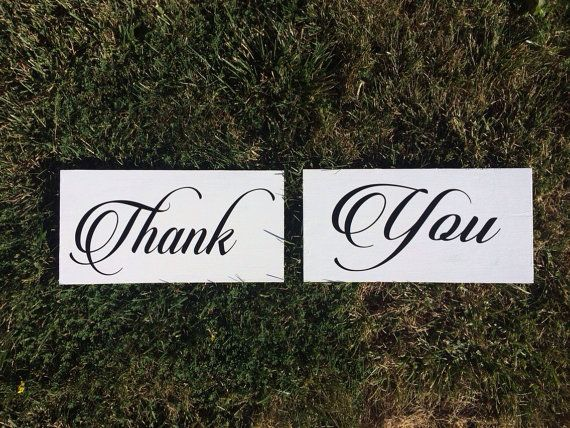 Thank You Signs For Wedding Photoshoot Used By Scaleandtailor