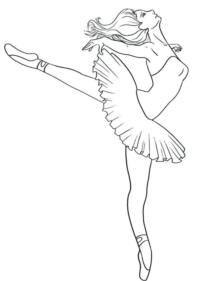 Ballerina Coloring Pages Printable Free  Dance coloring pages