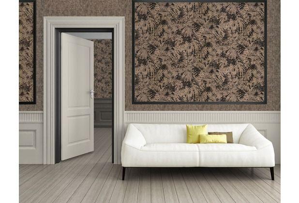 Coole Wischoptik macht diese Tapete modern und zeitlos Helle - tapete schlafzimmer beige