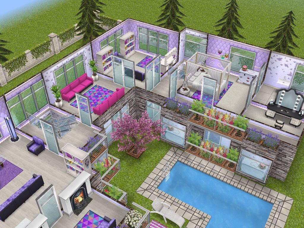 House 68 level 2 sims simsfreeplay simshousedesign my for Casa de diseno sims freeplay