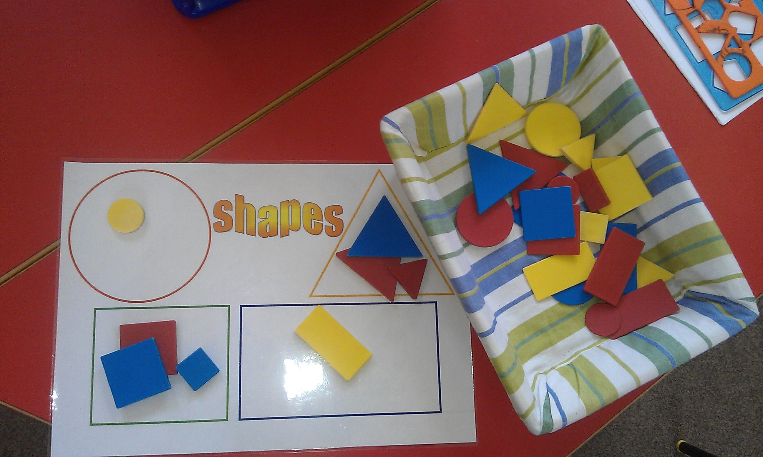 Simple Shape Sorting Activity For 3 Year Olds