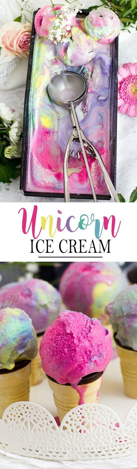 Einhorn-Eiscreme alias Ein frohes, buntes Jahr! - KüchenDeern