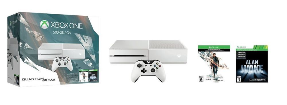 Xbox One 500GB White Console - Special Edition Quantum Break Bundle #Microsoft