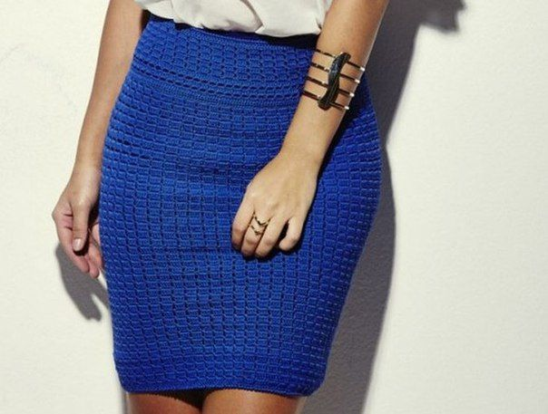Прямая юбка вязаная крючком схемы