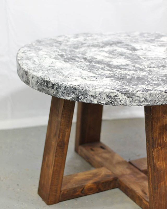 Who Says You Can T Paint Concrete Painted Concrete Table Top Concrete Table Concrete Table Top Table