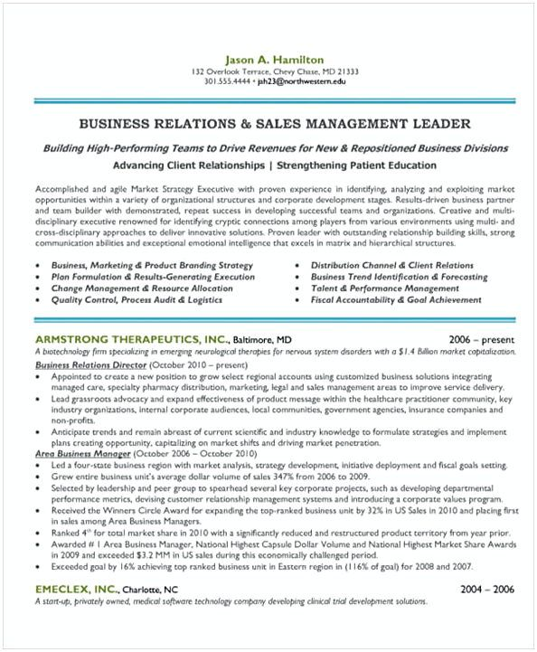 Sales and Marketing Manager Resume 1 , General Manager Resume - marketing director resume