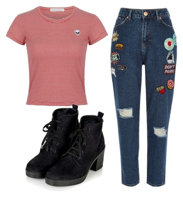 """""""JL"""" by nikka163 ❤ liked on Polyvore featuring River Island and Topshop"""