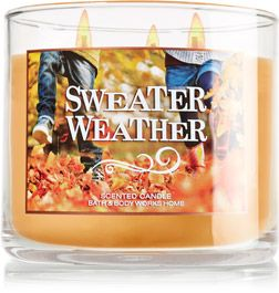There Here Sweater Weather 3 Wick Candle Slatkin Co Bath
