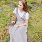 , Linen Pinafore Dress with Pockets – Women Cotton Apron – Organic Clothing, Hot Models Blog 2020, Hot Models Blog 2020