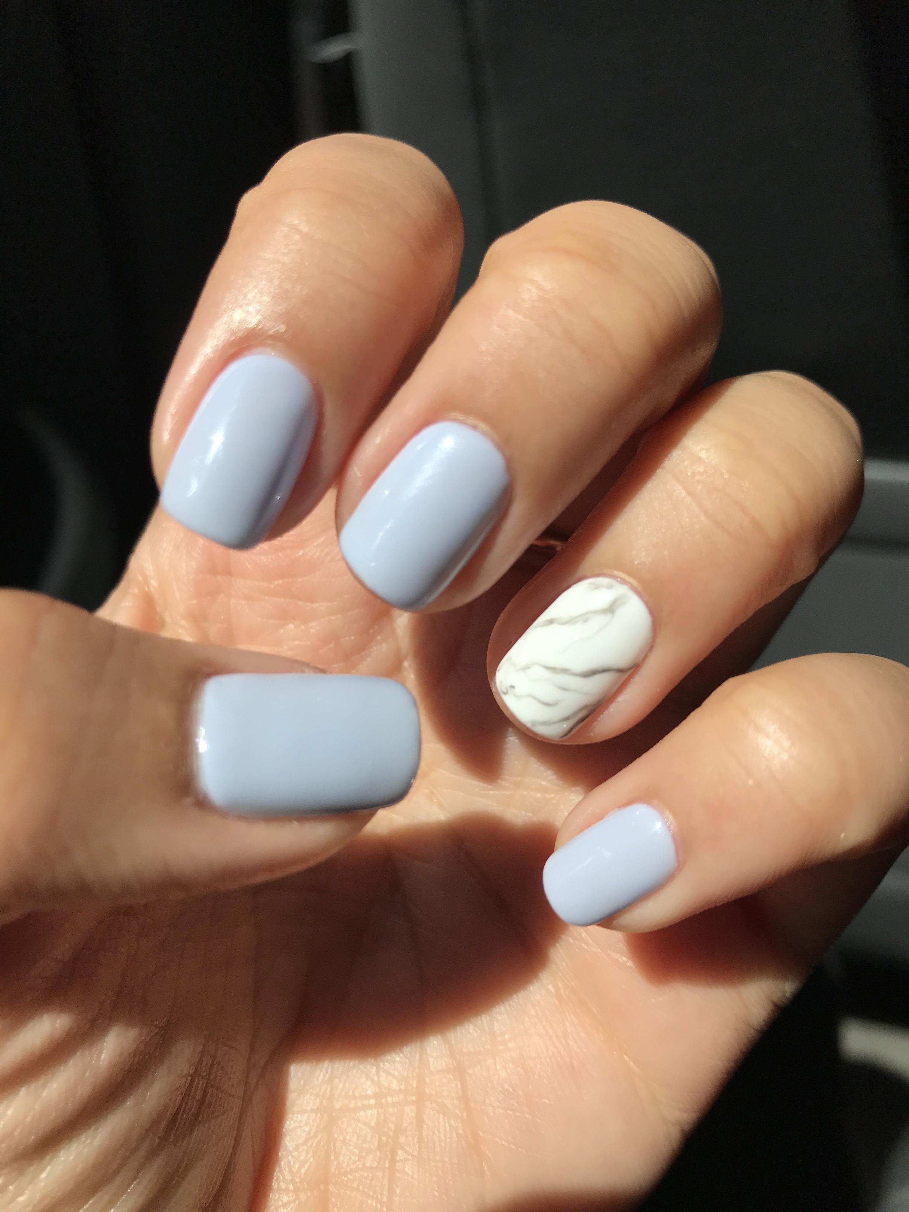 Mani pedi #gelmanicure | Gel french manicure, Nail
