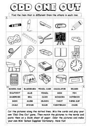 English teaching worksheets: Odd one out | Memory Care Activities ...