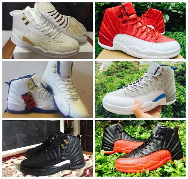 790f8e694f22 dhgate daily deals -2016 retro 12 12s XII Men Basketball Shoes Flu Game Gym  red ovo playoffs french blue wolf grey cherry repilcas Sneakers