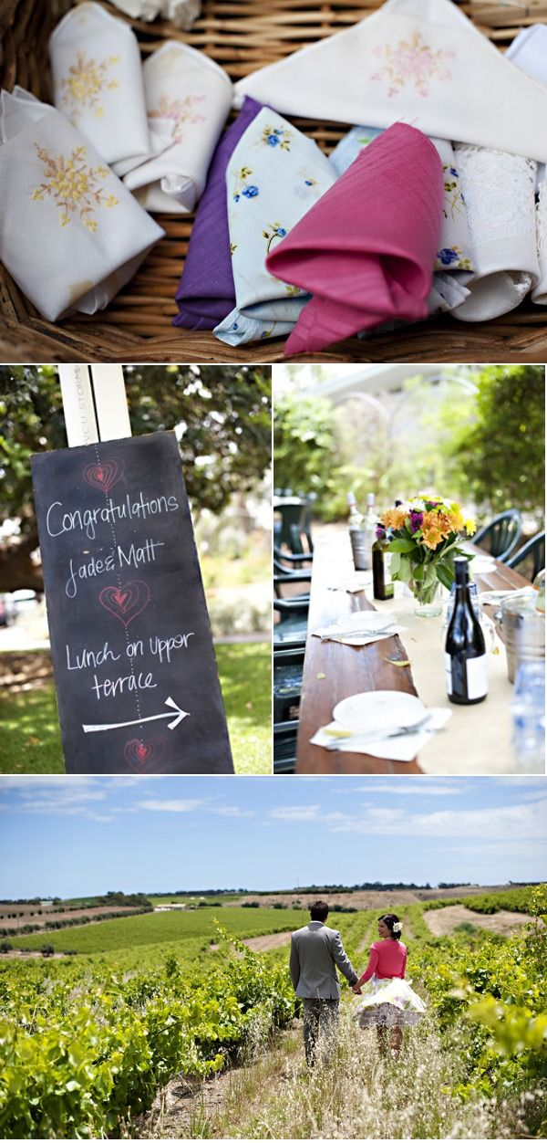 Mismatched Wedding Napkins Casual Country