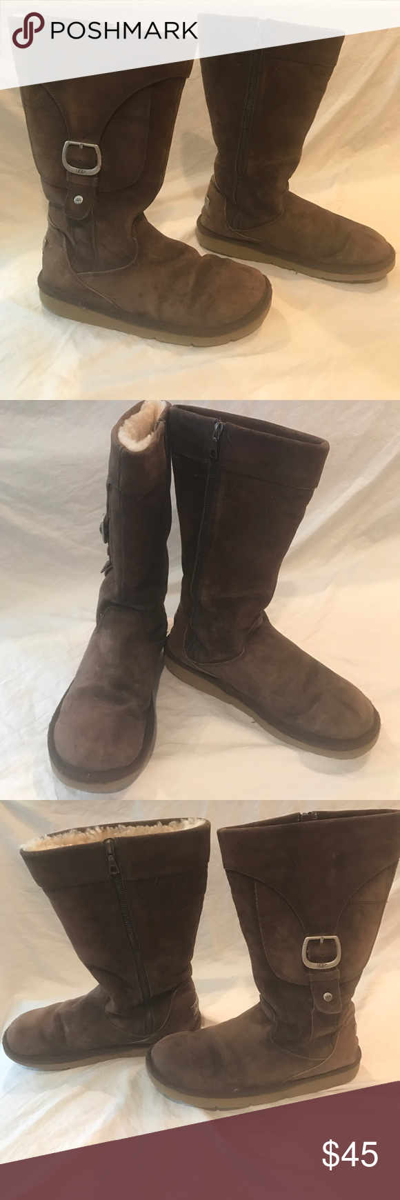 9096f07d2ea Ugg Cargo III Expresso Tall Winter Boots Size 9 Zip up retro boots ...