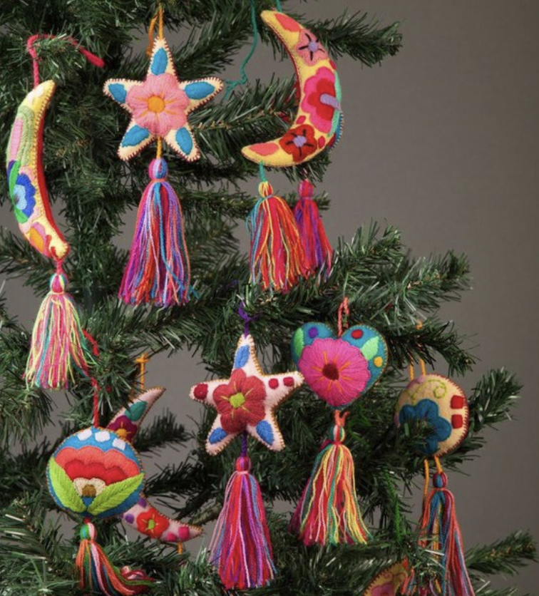 Christmas Decorations From Around The World Amir Aleks Realty Team Mexican Christmas Decorations Handmade Felt Ornament Mexican Christmas