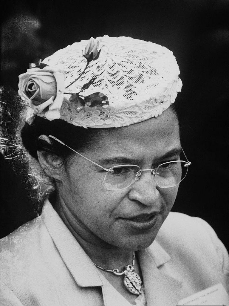 Civil Rights heroine Rosa Parks, who touched off the Montgomery Alabama bus boycott