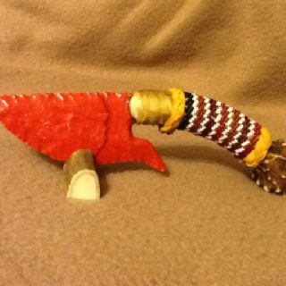 Fenton glass, knapped and beaded by Tommy Mercer.