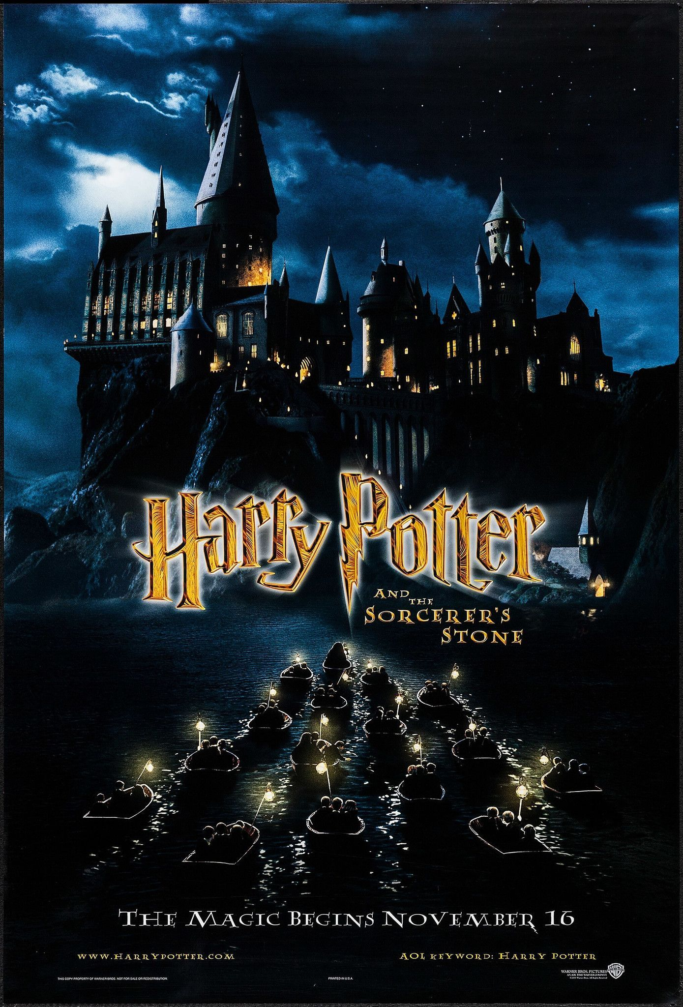 Harry Potter And The Sorcerer S Stone Original Movie Poster Harry Potter Poster Harry Potter Movie Posters Harry Potter Movies