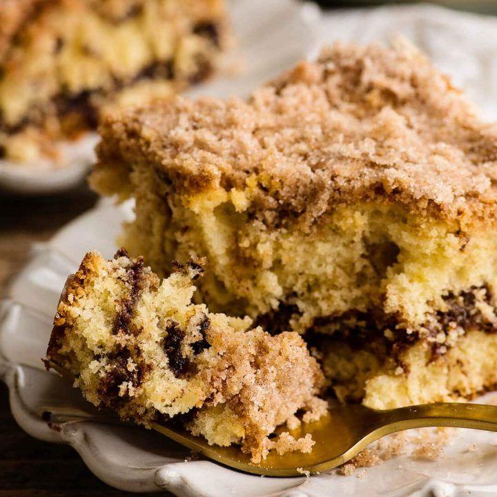 Chocolate chip sour cream coffee cake recipe in 2020