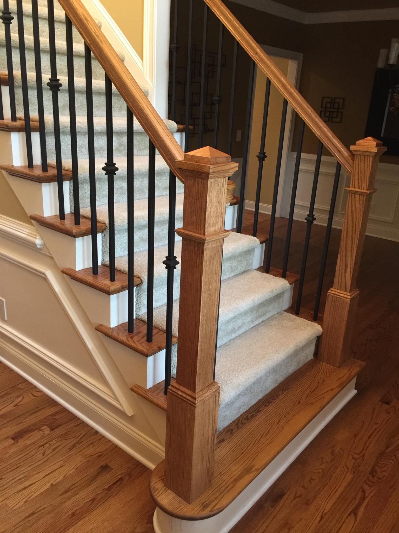 Best Single Knuckle Baluster Contemporary Stairs Staircase 640 x 480