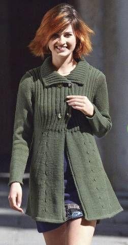 3f17906ab2c Зеленое пальто спицами