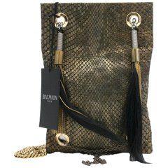 48cfa02e9495 Shoulder Bags · Balmain Ambre Sac Python Bag