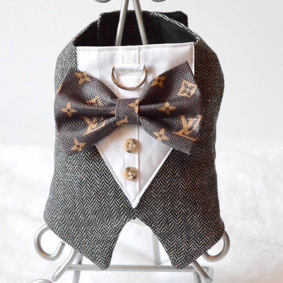 20ca9b6d8ae6 Louis Vuitton inspired style dog harness