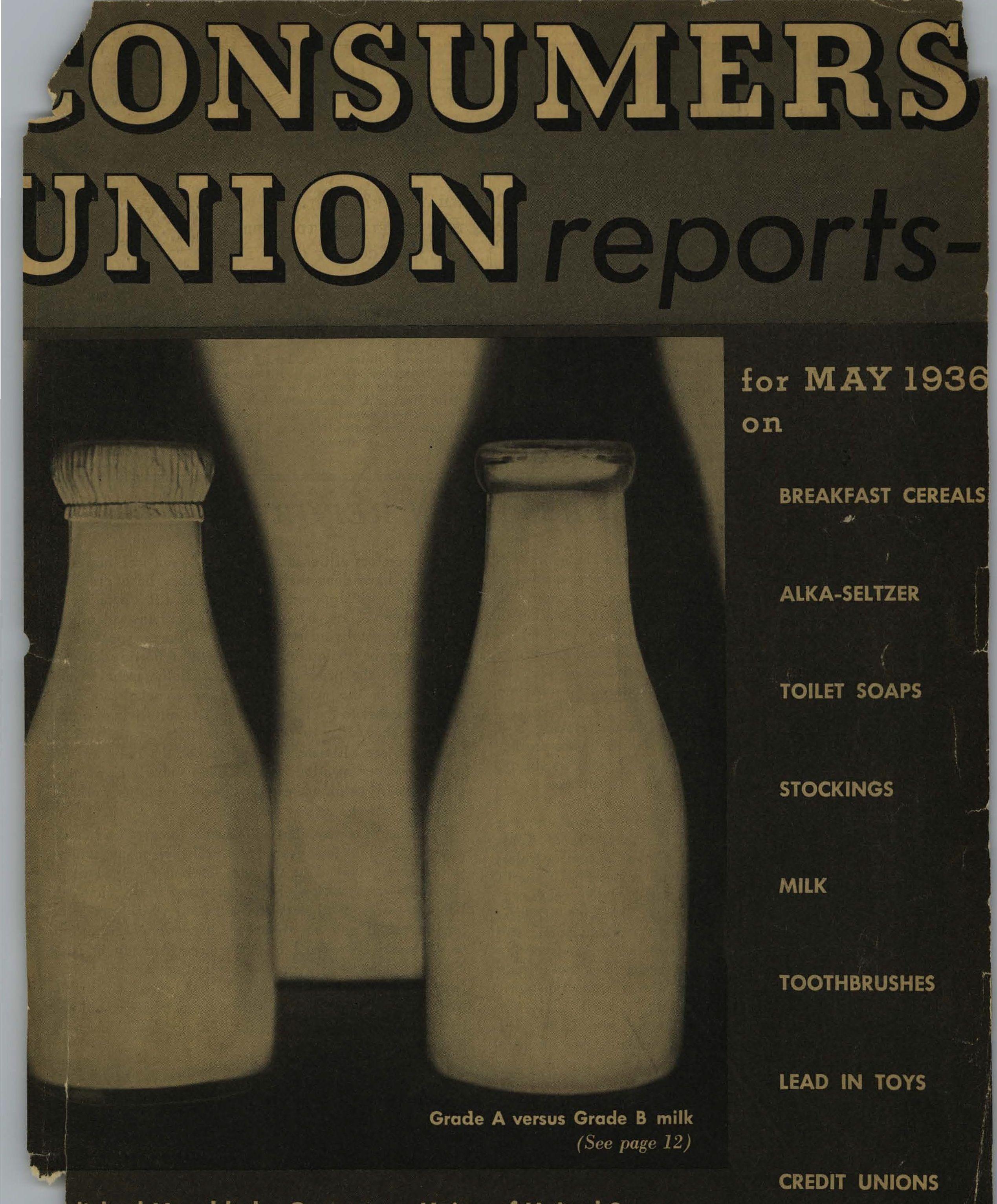 Consumer Guide Magazine: Consumer Reports Magazine: 1936