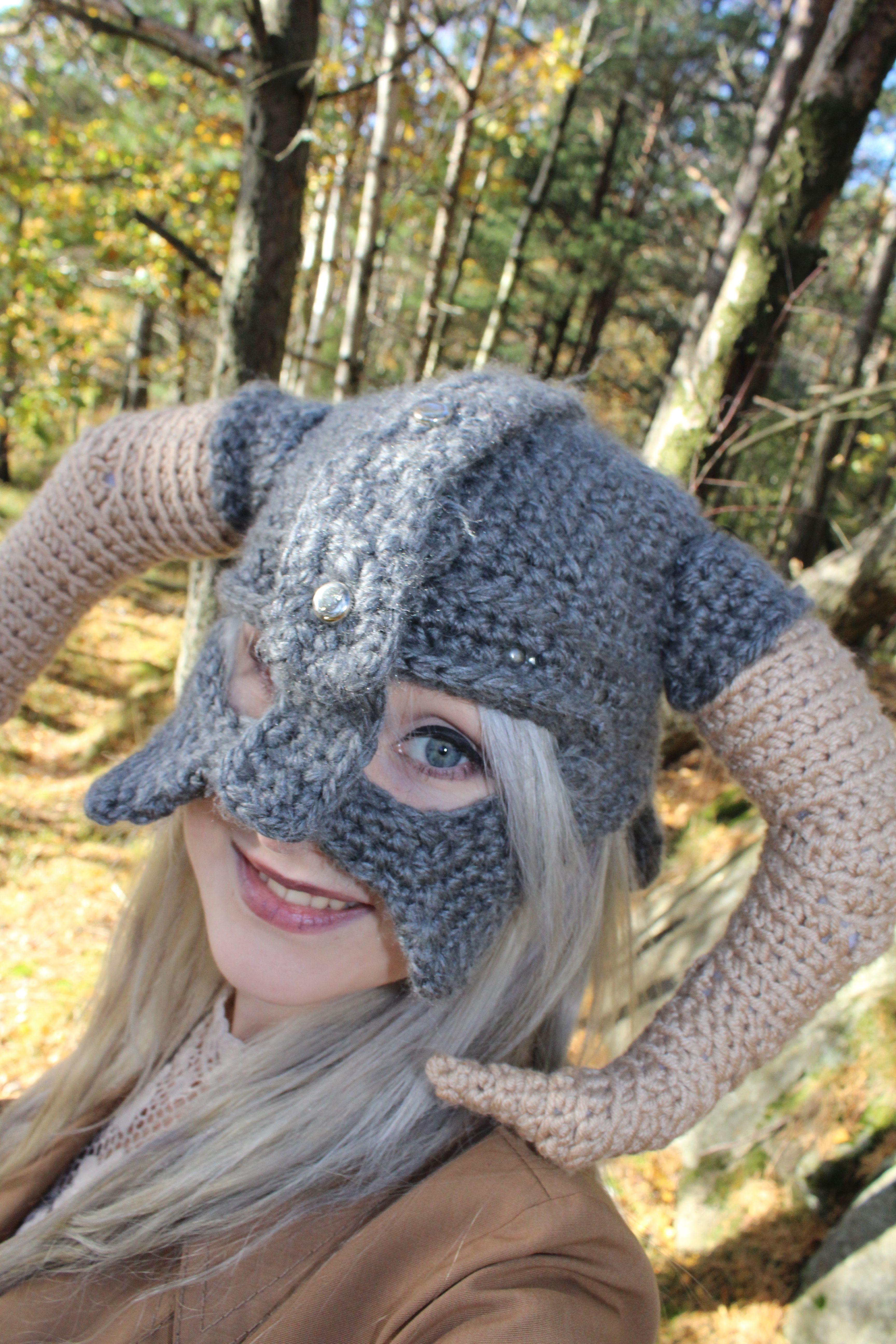 Skyrim crochet helmet by Vulpes94.deviantart.com on @DeviantArt ...