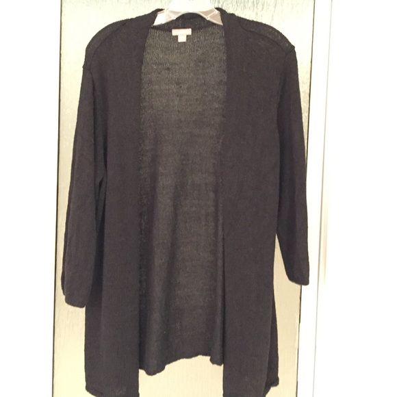 J Jill black cardigan L | Customer support and Delivery