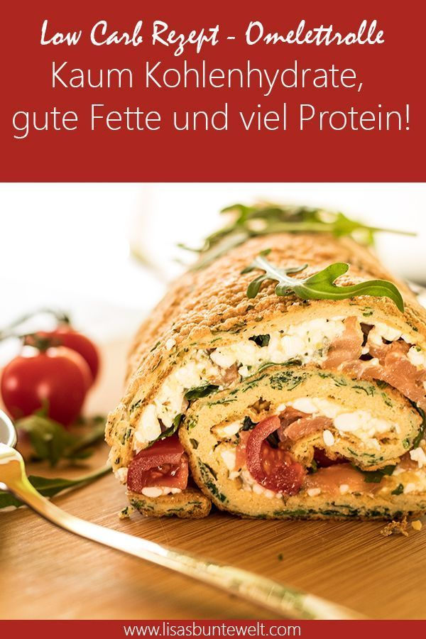 Fitness Recipe | Filled omelette roll with salmon - LisasBunteWelt, #filled #Fitness #LisasBunteWelt...