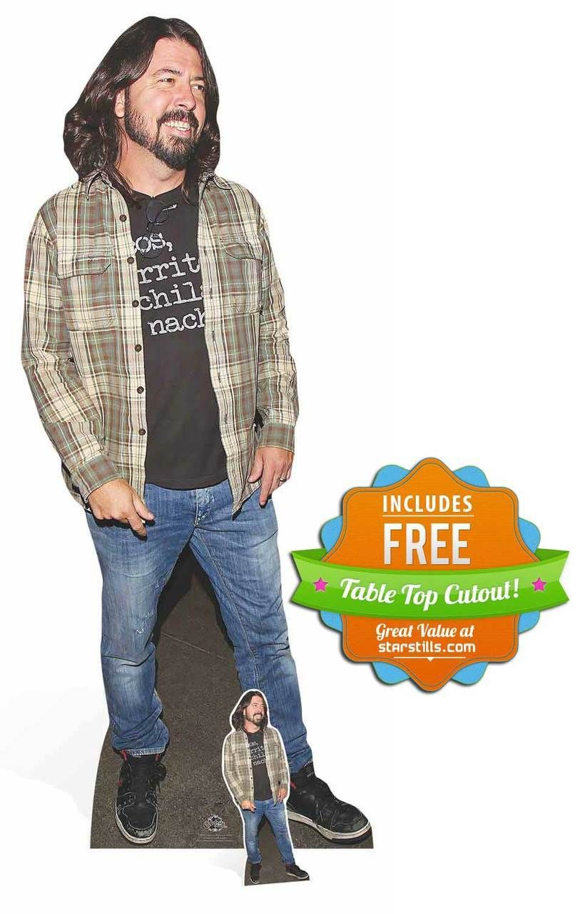 Dave Grohl From Foo Fighters Lifesize Cardboard Cutout Standee Stand Up Cardboard Cutout Foo Fighters Dave Grohl