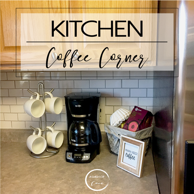 A Cute And Simple Coffee Station In Our Kitchen. Set Up A Coffee Corner On