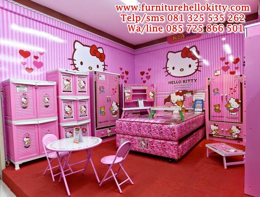 Desain Bentuk Tempat Tidur Hello Kitty Desainer Gambar Set Tempat