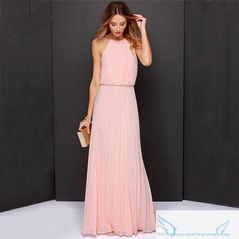 Boho Chic Boho Wedding bridesmaids dress - Pink / S | Vestidos boda ...