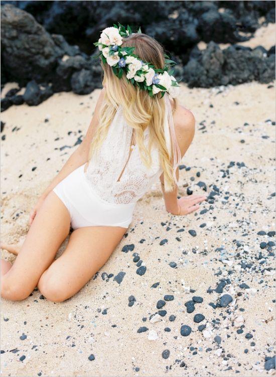 bridal bathing suit - Hawaiian Wedding | Bridal Boudoir | Pinterest