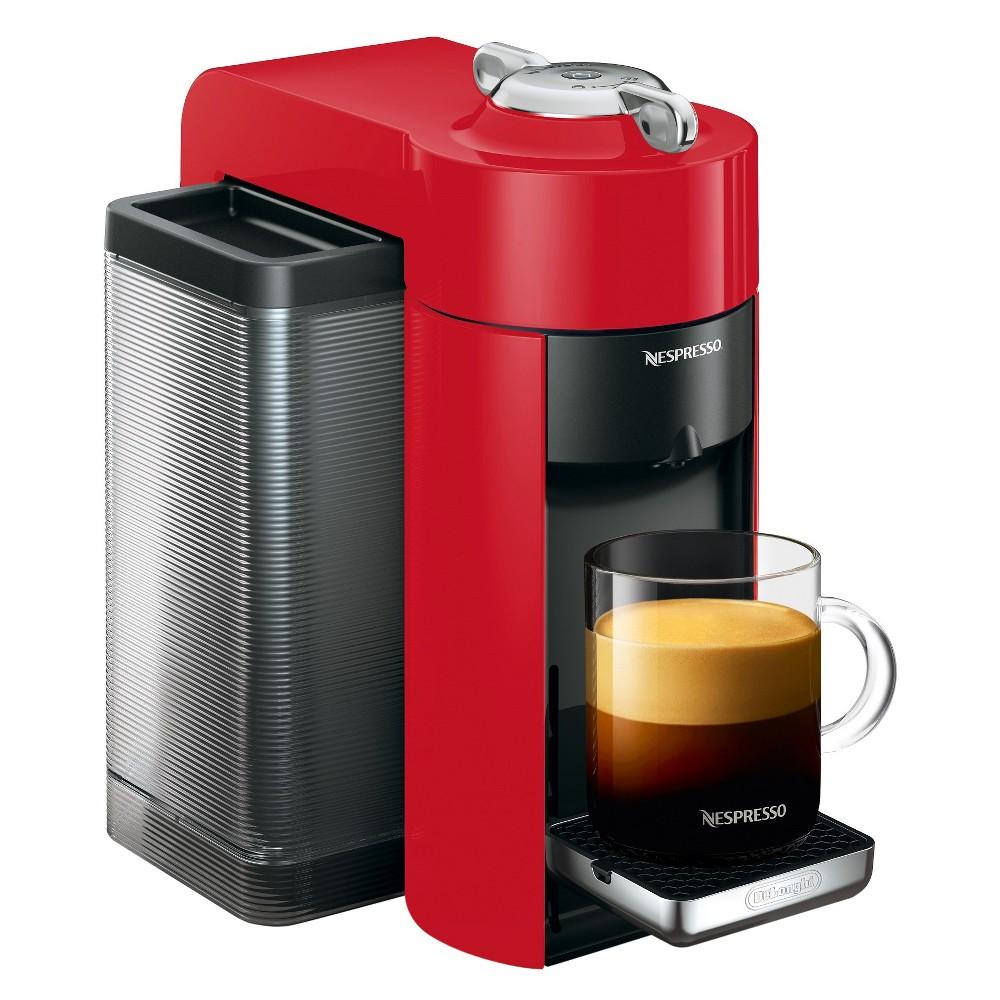 Nespresso Vertuo Coffee and Espresso Machine Red by De