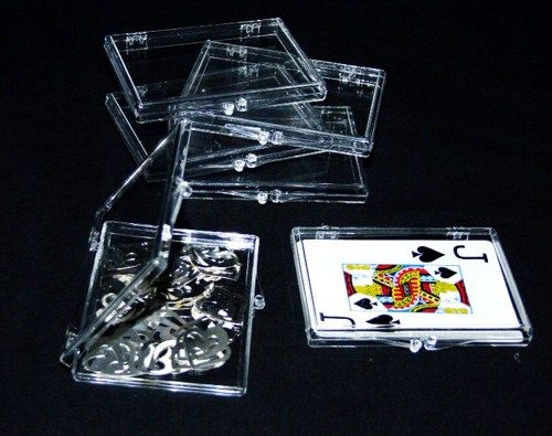 Clear Plastic Storage Boxes With Hinged Lids Shallow Depth 12 QTY