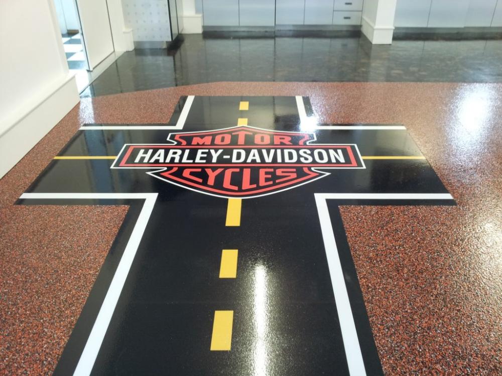 Harley Davidson Garage Flooring Homipet Floor Graphics Custom Floor Epoxy Floor