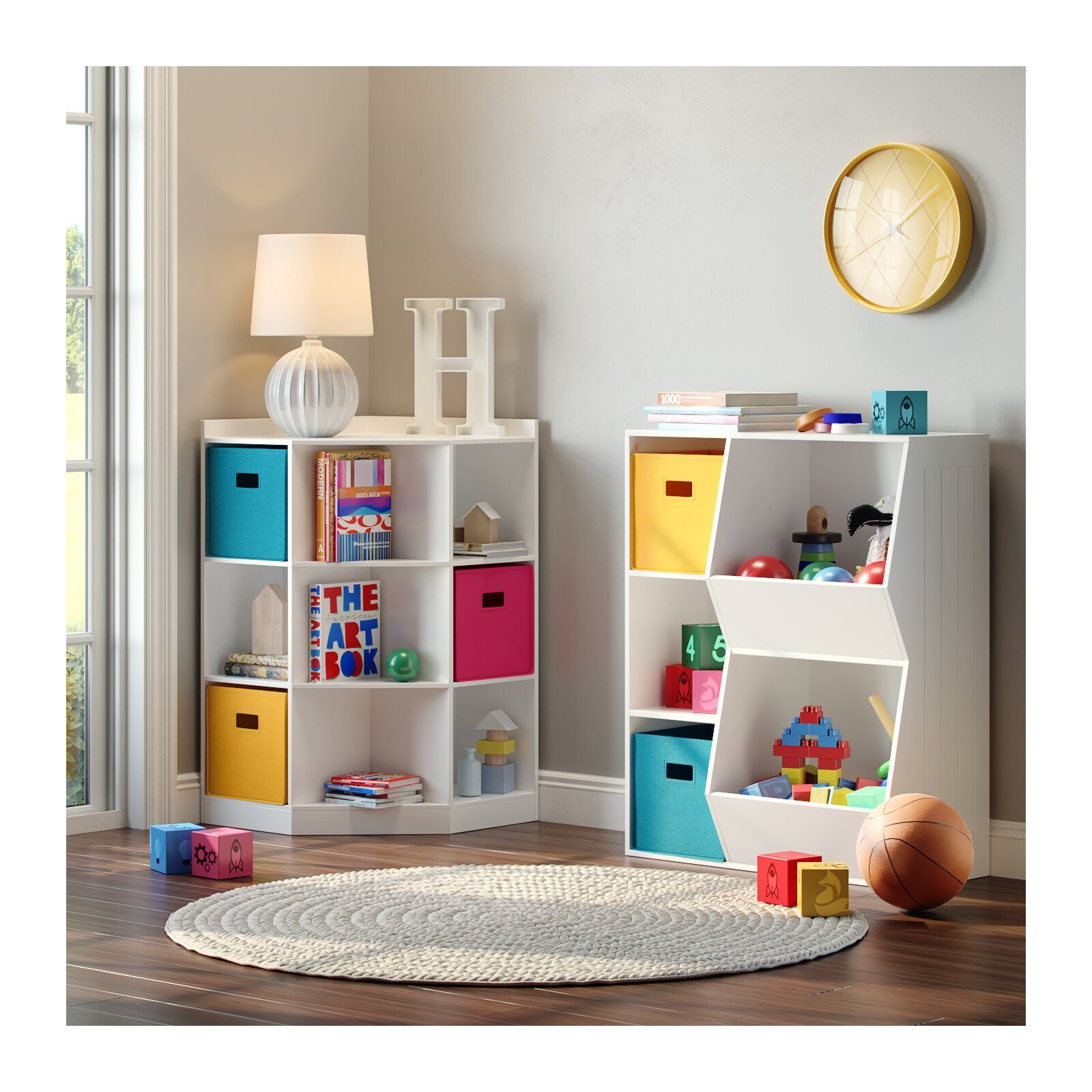 Riverridge 6 Cubby 3 Shelf Toy Organizer Colorful Kids Room Storage Kids Room Kid Room Decor