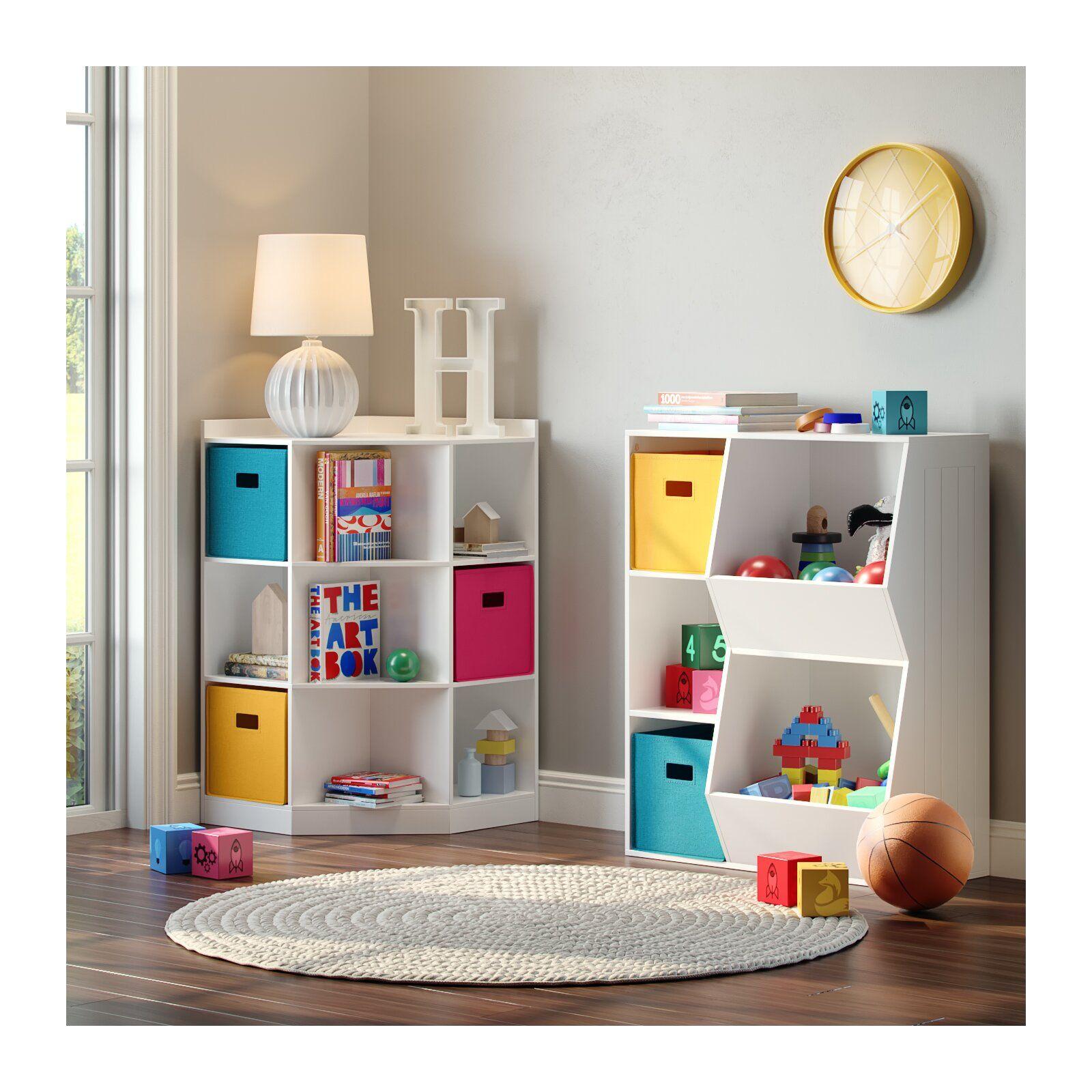 Riverridge 6 Cubby 3 Shelf Toy Organizer Storage Kids Room Kid