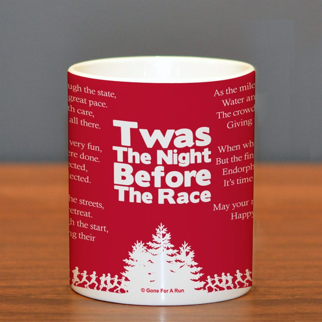 Christmas Gifts For Runners: Twas The Night Before The Race Ceramic Mug