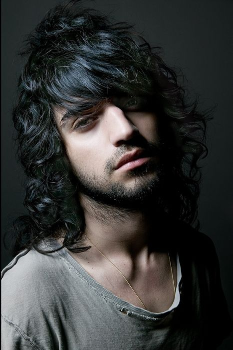 Long Black Wavy Curly Shaggy Messy Mens Hairstyles For Men Long
