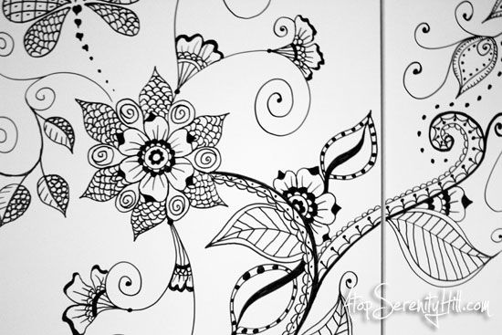 Henna-inspired doodles on cabinet | Henna, Doodle flowers ...