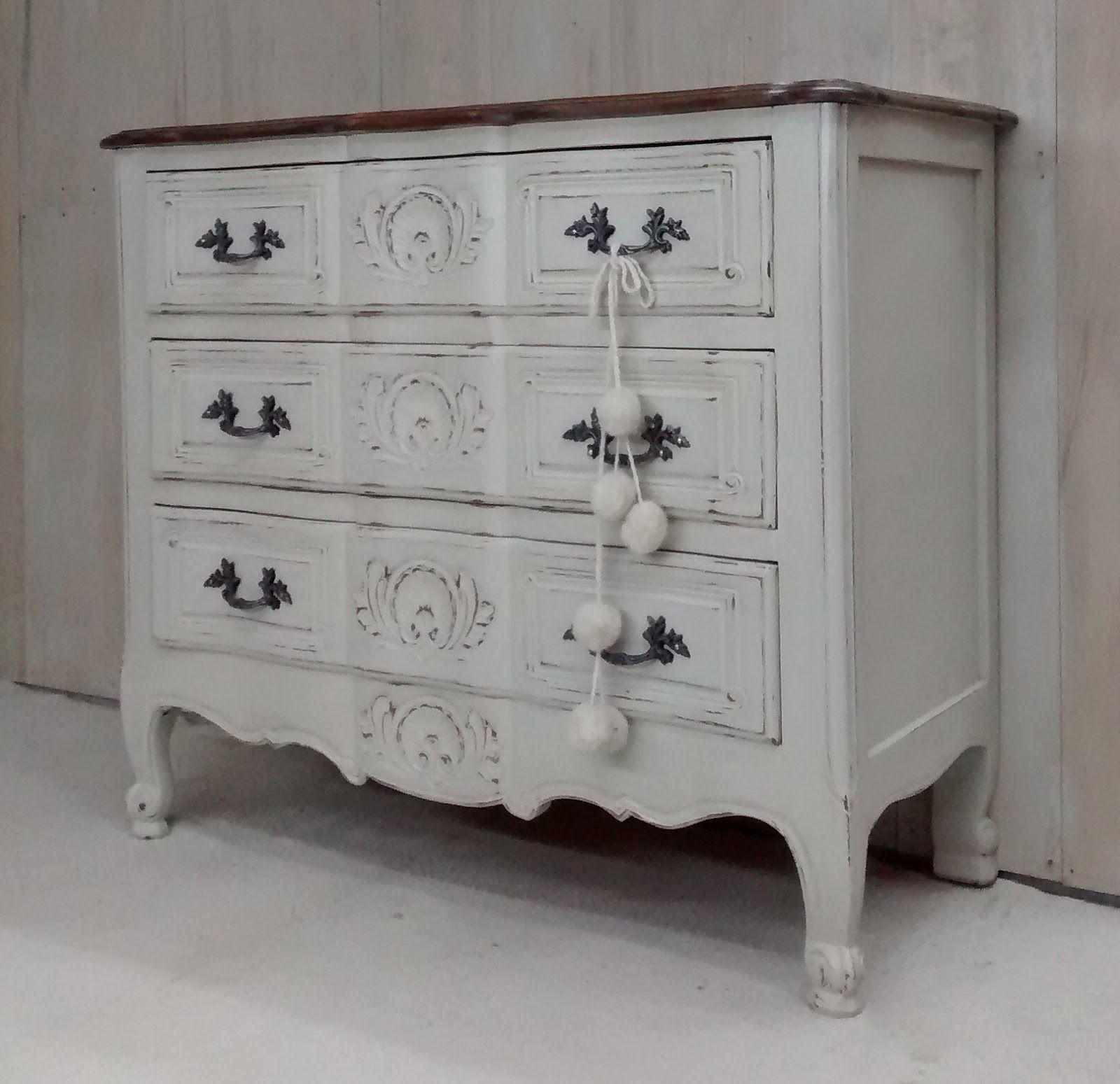 Muebles Antiguos Restaurados En Blanco Ropero Luis Xv Color  # Muebles Patinados En Blanco