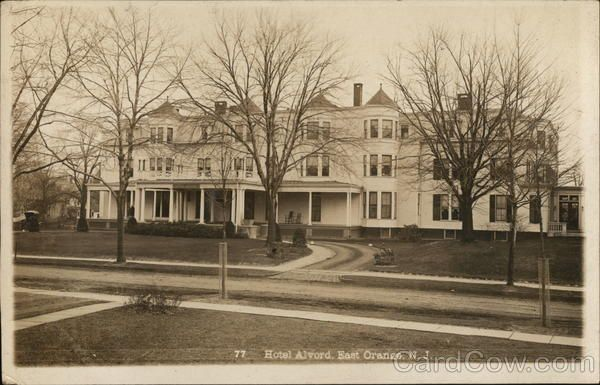 Hotel Alvord East Orange Nj Postcard