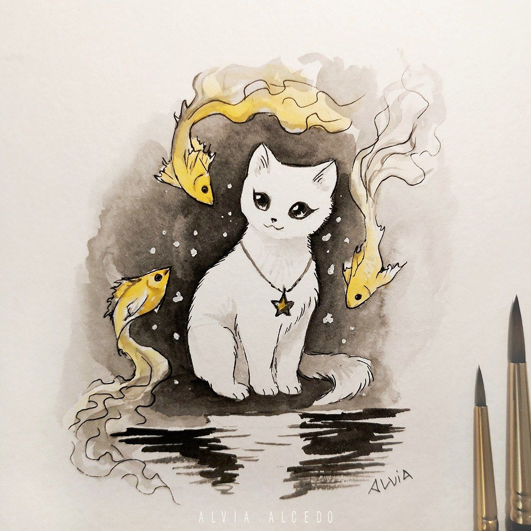 Alvia Alcedo — Cats could dream of fish.. Or maybe fish