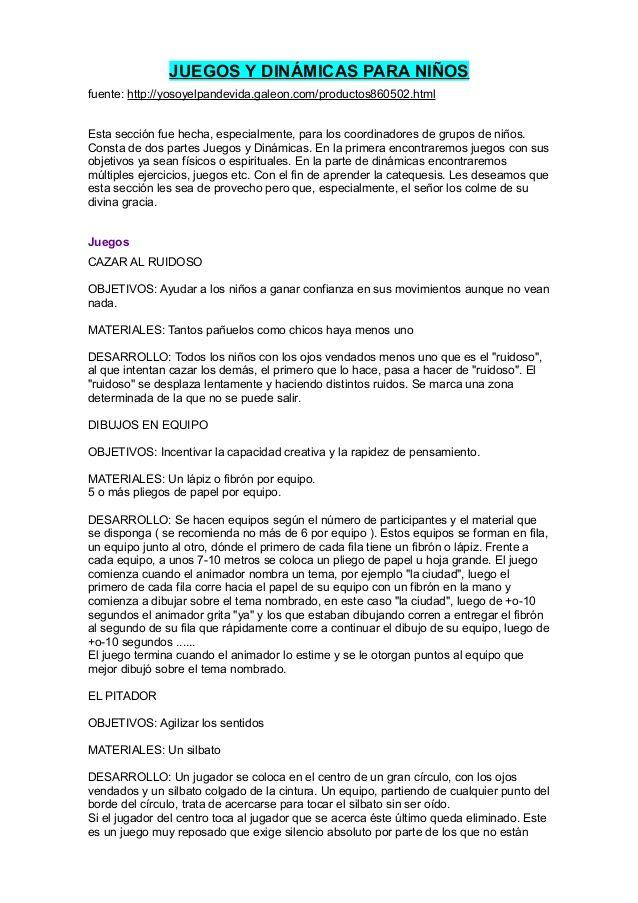 Juegos Y Dinamicas Para Ninos Ministerio Ninos Pinterest