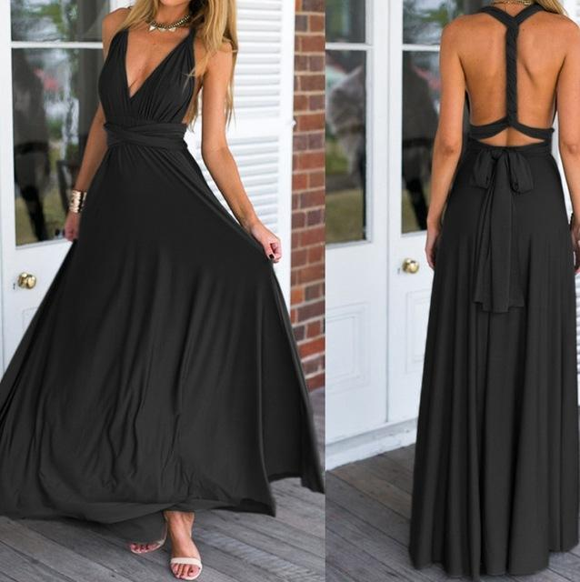 5004bc2e64e Maxi Dress 2017 Women Long Summer Convertible Bohemian Dresses Casual  Bandage Evening Prom Club Party Infinity Multiway Dresses