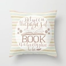 Between the Pages of a Book - Polka Dots Throw Pillow